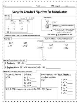6th Grade Unit 1: Number Sense Homework Bundle