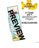 6th Grade Unit 4 Review Bookmark