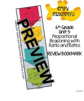 6th Grade Unit 5 Review Bookmark