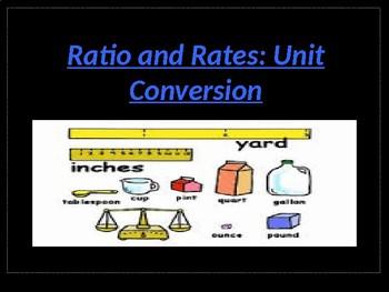 6th Grade Unit Conversion Powerpoint Lesson