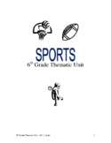 6th Grade Thematic Lessons - (Sports theme)