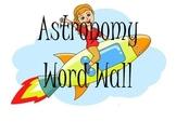 6th Grade Utah Science Word Wall Astronomy