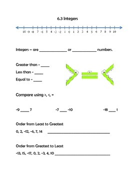 6th Grade VA Math Interactive Notebook