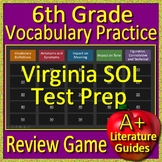 6th Grade Virginia SOL Reading Test Prep Vocabulary Practice Review Game