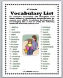6th Grade Vocabulary List