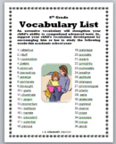 6th Grade Vocabulary List