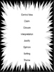 6th Grade Vocabulary Posters with definitions