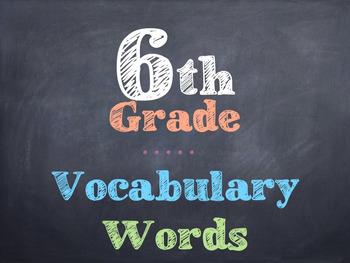 6th Grade Vocabulary Words
