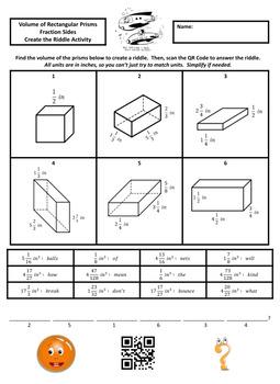 6th Grade Volume of Rectangular Prisms Create the Riddle Activity Bundle