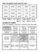 6th Grade WONDERS Spelling/Vocabulary Homework