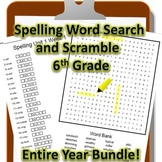 6th Grade WONDERS Spelling Word Search and Scramble -- Ent