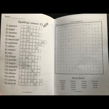 6th Grade WONDERS Spelling Word Search and Scramble -- Unit 6 (Differentiated)
