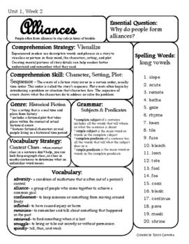 6th grade McGraw-Hill Reading Wonders Study Guide/Weekly Focus Units 1-6