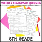6th Grade | Weekly Language Assessments | Grammar