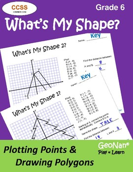 6th Grade What's My Shape?  Plotting Points & Drawing Polygons