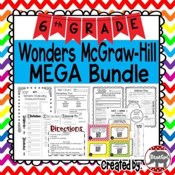 6th Grade Wonders McGraw Hill Reading *** MEGA Bundle ***