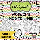 6th Grade Wonders McGraw Hill Reading *** Unit 1 Bundle ***