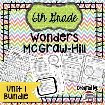 6th Grade Wonders McGraw Hill Reading *** Unit 1 Bundle ***