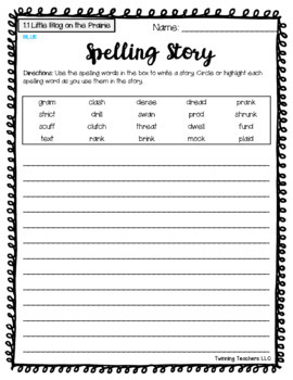 6th Grade Wonders Spelling - Writing Activity - On Level Lists - UNITS 1-6