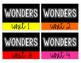 6th Grade Wonders Storage Labels