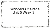 6th Grade Wonders-Unit 5 Week 2 Centers