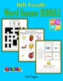 6th Grade Word Games BUNDLE (Print + Digital Activities)