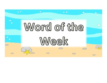 6th Grade Word of the Week - Ocean Theme