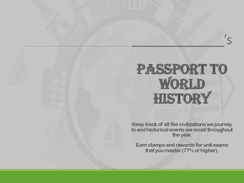 6th Grade World History Passport Book