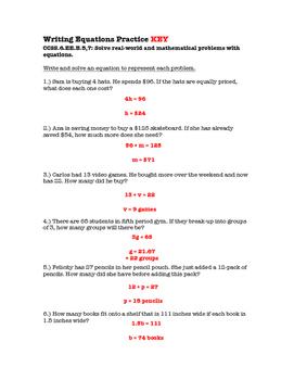 6th Grade Writing Equations Lesson: FOLDABLE & Homework