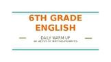 6th Grade Writing Journal Weekly Prompts- 40 WEEKS