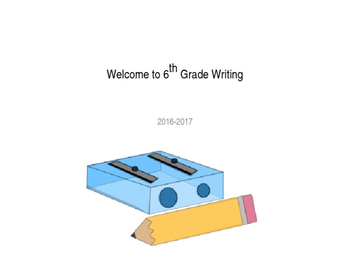 6th Grade Writing Overview