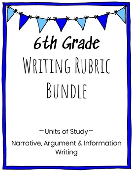 6th Grade Writing Rubric Bundle
