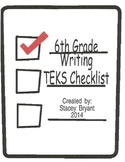 6th Grade Writing TEKS Checklist