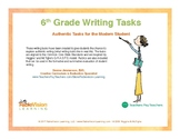 6th Grade Writing Tasks- Authentic Tasks for the Modern Student
