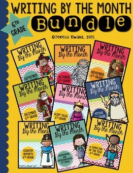 Monthly Writing Bundle-Entire Year 6th