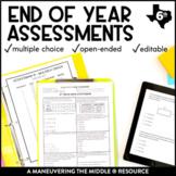 6th Grade Math Year-End Assessments: TEKS