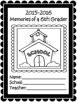 6th Grade Yearly Memories Memory Book