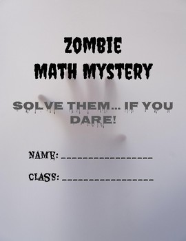 End of Year Math Review - 6th Grade Zombie Mystery