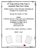 6th Grade enVision Math Topic 2 Coordinate Plane Dots & Bo