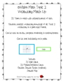 6th Grade enVision Math Topic 2 Vocabulary Match Up