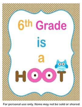 6th Grade is a Hoot