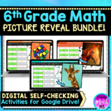 6th Math Digital Mystery Activities Bundle for Distance Learning
