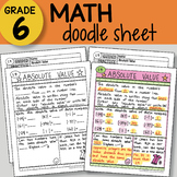 Doodle Sheet - Absolute Value - EASY to Use Notes - PPT included!