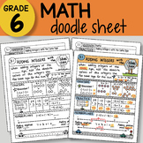 Doodle Sheet - Adding Integers with the Same Sign -  EASY to Use Notes -