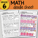 Doodle Sheet - Dividing Decimals with Models -  EASY to Use Notes - PPT included
