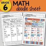 Doodle Sheet - Dividing Fractions - EASY to Use Notes - PPT included!