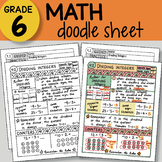 Doodle Sheet - Dividing Integers -  EASY to Use Notes - PP