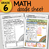 Doodle Sheet - Multiplying Decimals w/ Standard Algorithm