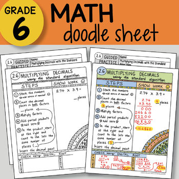Doodle Sheet - Multiplying Decimals w/ Standard Algorithm