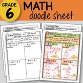 Doodle Sheet - Multiplying & Dividing Fractions & Decimals